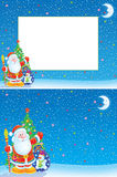 Christmas frame and background Stock Image