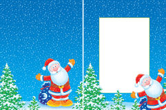 Christmas frame and background Stock Photography
