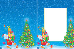 Christmas frame and background Royalty Free Stock Photo