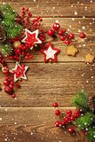 Christmas frame background stock photography