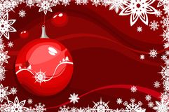Christmas frame with balls Stock Images