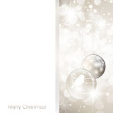 Christmas frame with balls Royalty Free Stock Photos