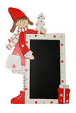Christmas Frame,Letter to Santa Claus,natale,snow-maiden Stock Photos