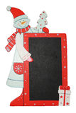 Christmas Frame,snowman,merry christmas,letter to Santa Claus Royalty Free Stock Photo