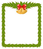 Christmas frame with bells vector illustration