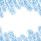 Christmas frame from blue tree Royalty Free Stock Photography