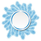 Christmas frame from blue tree 2 Royalty Free Stock Photos