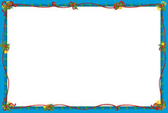 The christmas frame - border - cartoon illustration Royalty Free Stock Photo