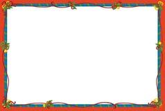 The christmas frame - border - cartoon illustration Stock Image