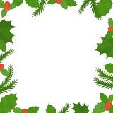 Christmas frame border Stock Photography