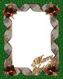 Christmas frame border ribbons Stock Image