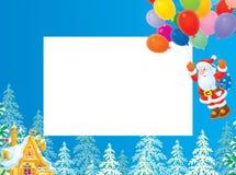 Christmas frame / border with Santa Claus Stock Photo