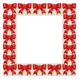 Christmas frame. With bows on background Stock Images