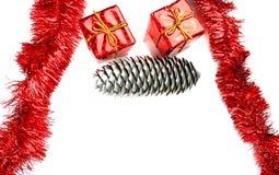 Christmas frame card Stock Image