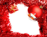 Christmas frame card Stock Photos