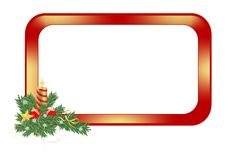 Christmas frame, cdr vector royalty free stock photography