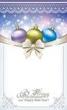 Christmas frame with Christmas balls Stock Image