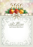 Christmas frame 2016 Christmas Decorations Stock Photography