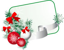Christmas frame with Christmas decorations Christm Stock Image