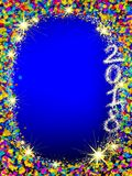 Happy New 2018 Year background with Christmas frame. Royalty Free Stock Photography