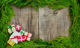 Christmas frame concept Royalty Free Stock Photos