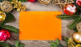 Christmas frame for congratulations Stock Photography