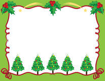 Christmas frame. Cute Christmas frame in red and green color vector illustration