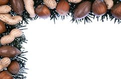 Christmas frame - decoration Royalty Free Stock Image