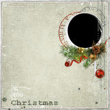 Christmas frame with decorations Stock Images