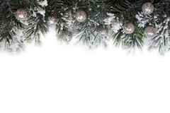 Christmas frame with decorations Stock Image