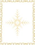 Christmas frame with decorative elements Stock Photos