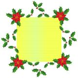 Christmas frame design Royalty Free Stock Photos