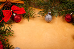 Christmas frame detail Royalty Free Stock Photo