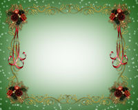 Christmas Frame Fancy Border Royalty Free Stock Photos