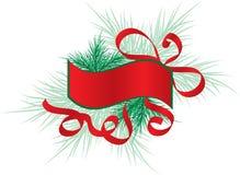 Christmas frame with a fir tree, vector Royalty Free Stock Photos