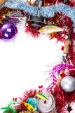 Christmas frame for fishers and anglers Royalty Free Stock Image