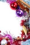 Christmas frame for fishers and anglers Stock Image