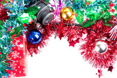 Christmas frame for fishers and anglers Royalty Free Stock Photography