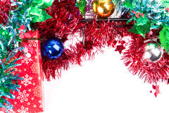 Christmas frame for fishers and anglers Royalty Free Stock Photo
