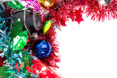 Christmas frame for fishers and anglers Royalty Free Stock Photos