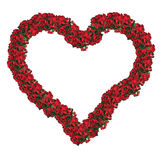 Christmas frame - floral heart Royalty Free Stock Images