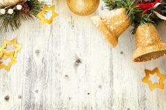 Christmas frame with free space for text Stock Photos