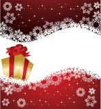 Christmas frame with gift Stock Photos