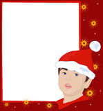 Christmas frame with gnome Stock Images