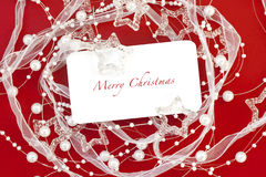 Christmas frame for greeting Royalty Free Stock Photos