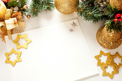 Christmas frame for greeting card Stock Photo