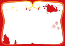 Christmas Frame for greeting cards Stock Images