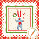 Christmas frame with hare. Vector illustration Royalty Free Stock Photography