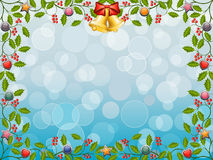 Christmas frame with a holly Stock Images