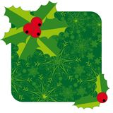 Christmas frame with holly Royalty Free Stock Image